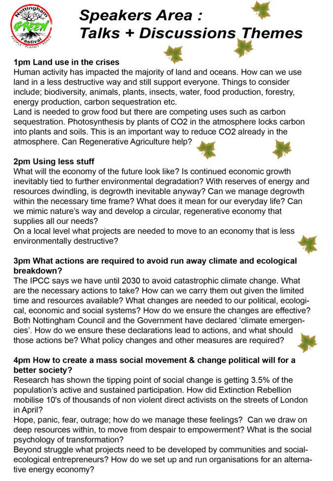 Green Festival Speakers Program